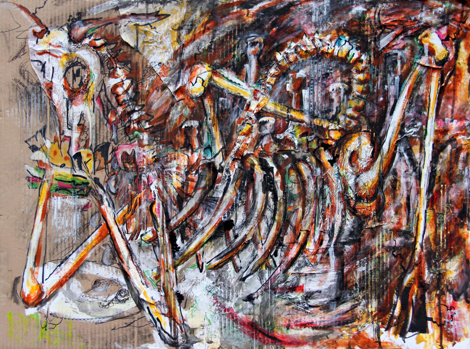 Hamburger der Apokalypse, 80x60cm, Marc Allgaier, 2013
