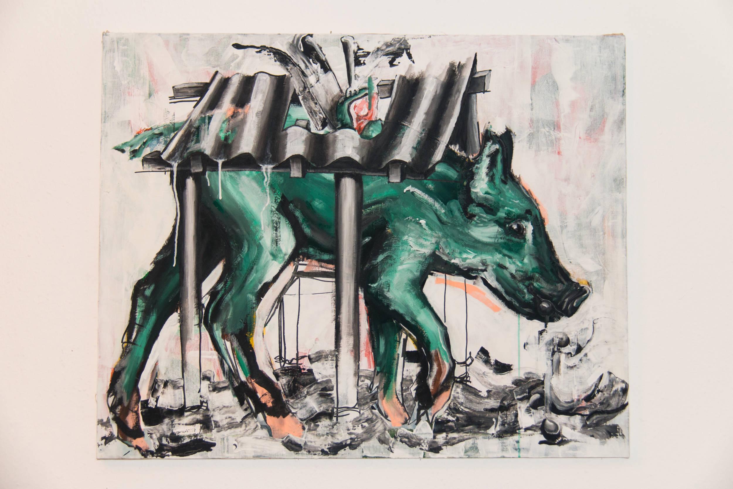 Das Schwein, 100x80cm, Marc Allgaier, 2021
