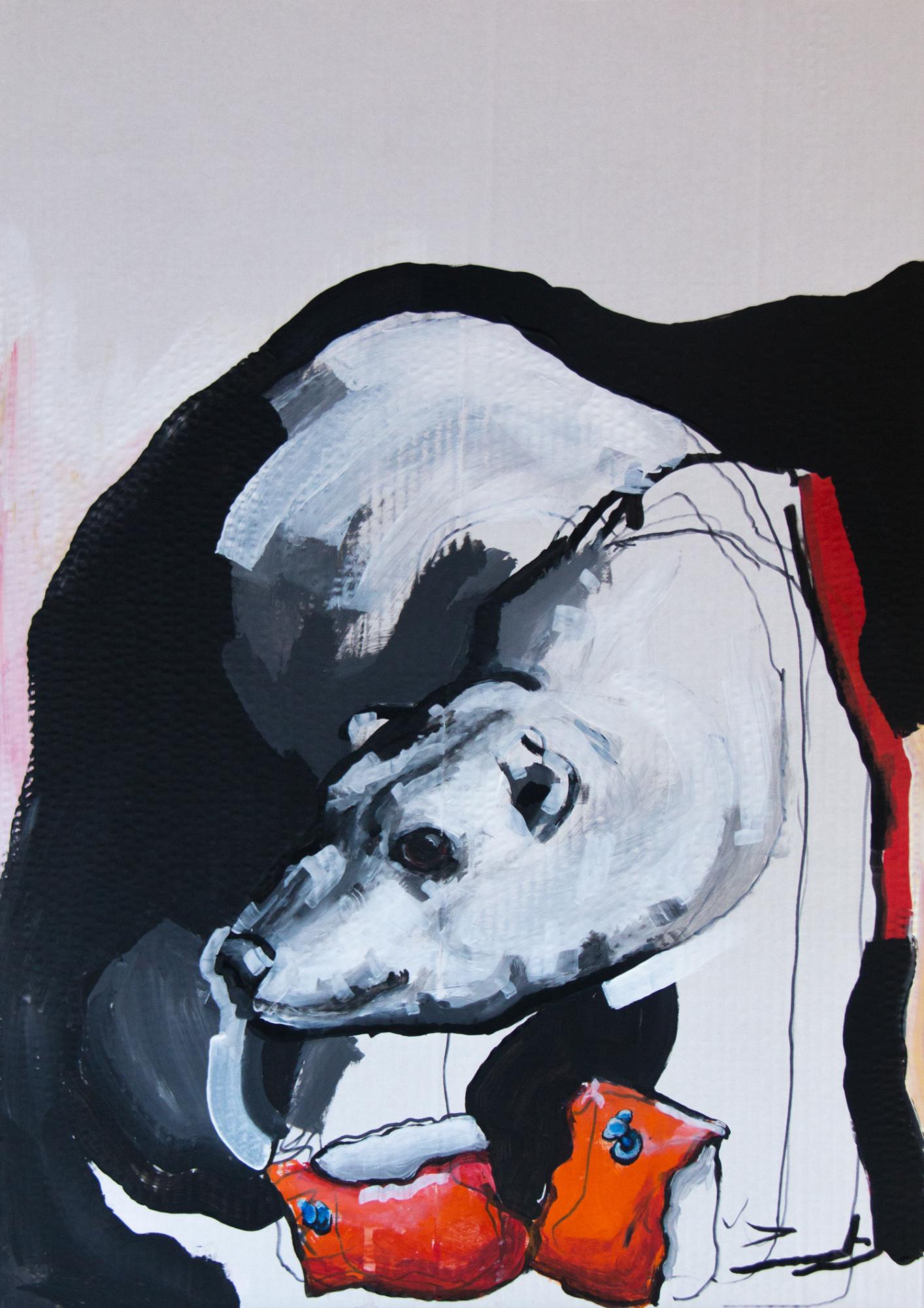 Der Eisbär, 50x70cm, Marc Allgaier, 2020