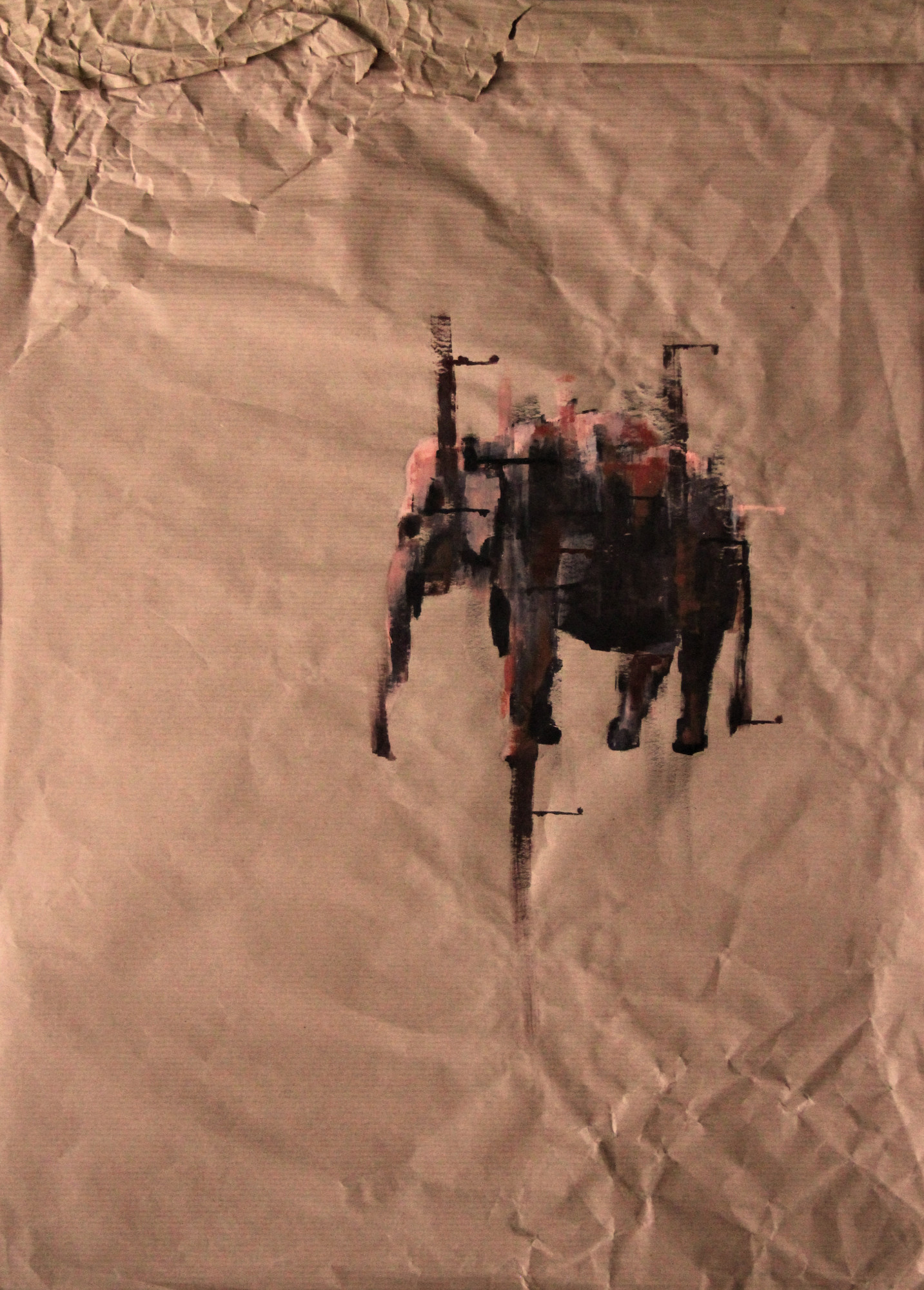 Der Elefant, 50x70cm, Marc Allgaier, 2011
