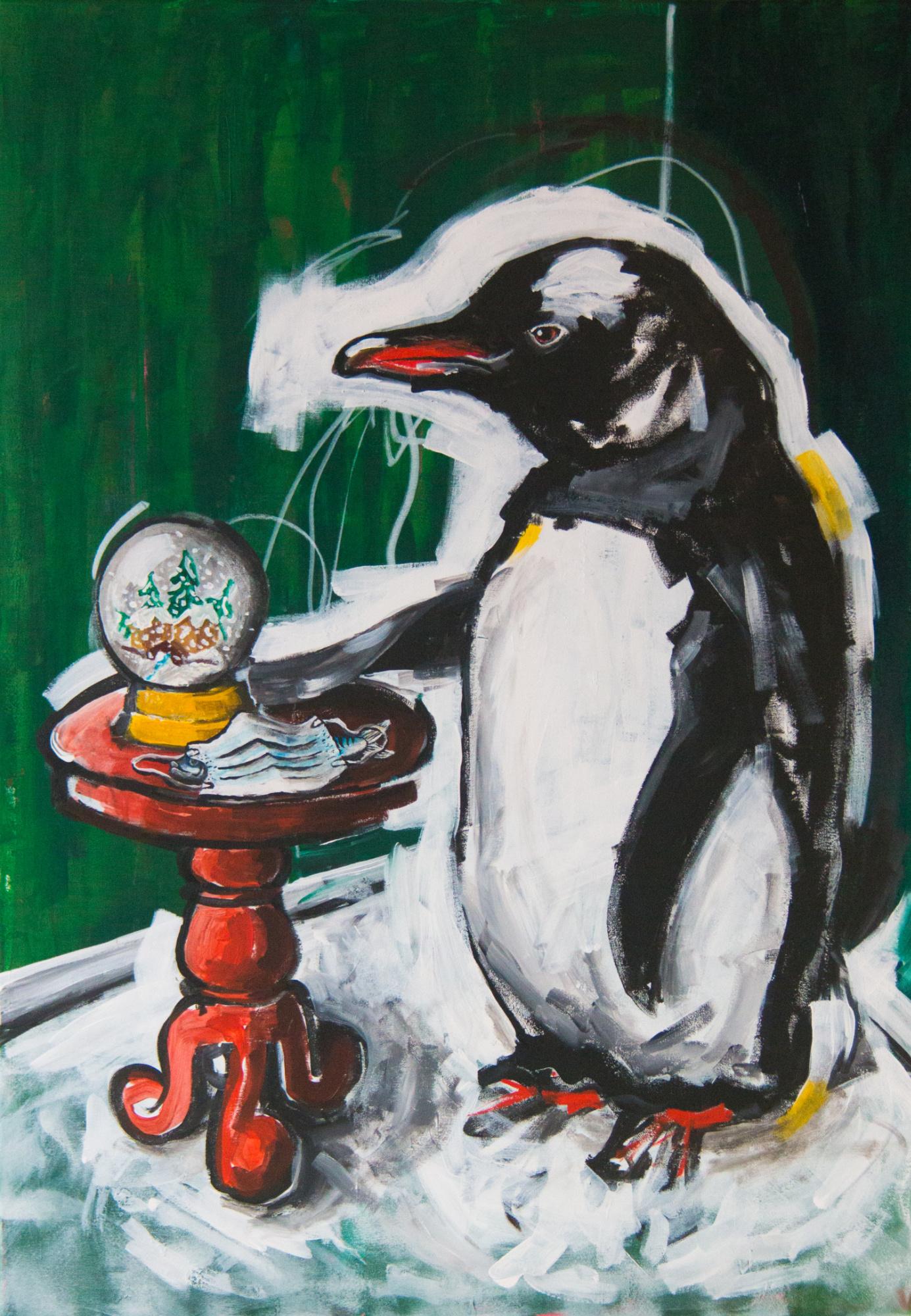 Der Pinguin, 70x100cm, Marc Allgaier, 2020
